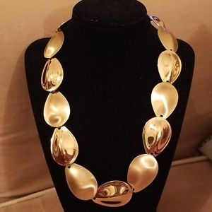 Bold Gold Statement Necklace